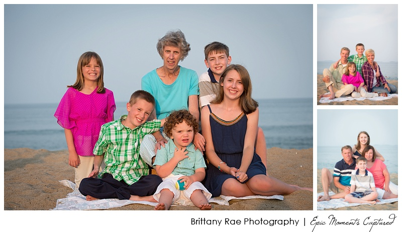 old Orchard Beach family photos - Grandmother with grandkids