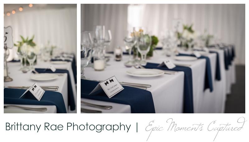 Inn on Peaks Island Wedding, Portland Maine - Navy bowtie wedding details