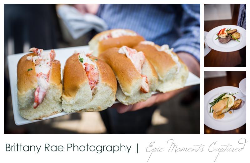 Inn on Peaks Island Wedding, Portland Maine - Lobster Roll appetizers wedding