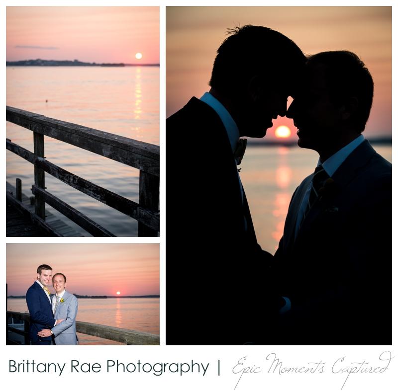 Inn on Peaks Island Wedding, Portland Maine - Sunset Wedding images on Peaks Island