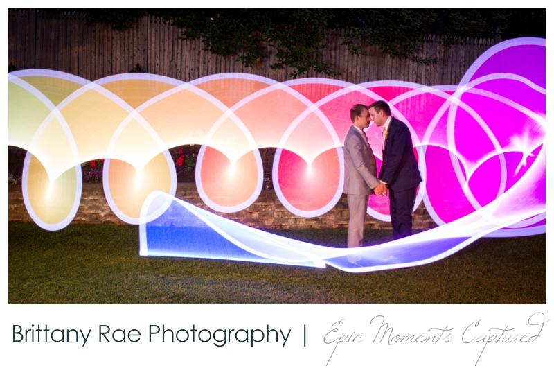 Inn on Peaks Island Wedding, Portland Maine - Light painting wedding