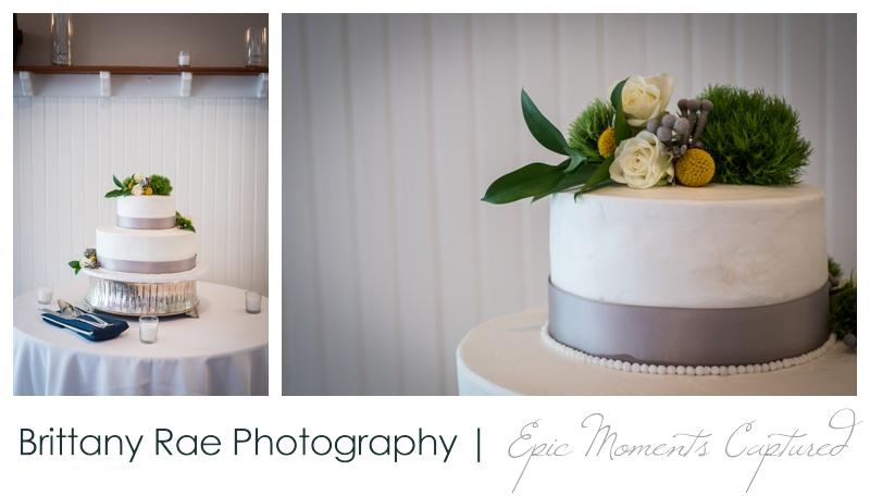 Inn on Peaks Island Wedding, Portland Maine - Inn on Peaks Island Wedding, Portland Maine - White and silver wedding cake
