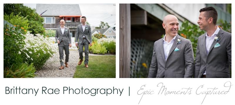 Harborview at Jones Landing Wedding, Peaks Island Maine - grooms coming down the aisle