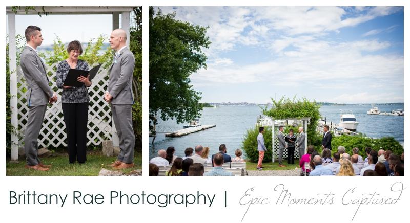 Harborview at Jones Landing Wedding, Peaks Island Maine - outdoor ceremony