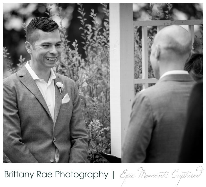 Harborview at Jones Landing Wedding, Peaks Island Maine - outdoor ceremony on lawn