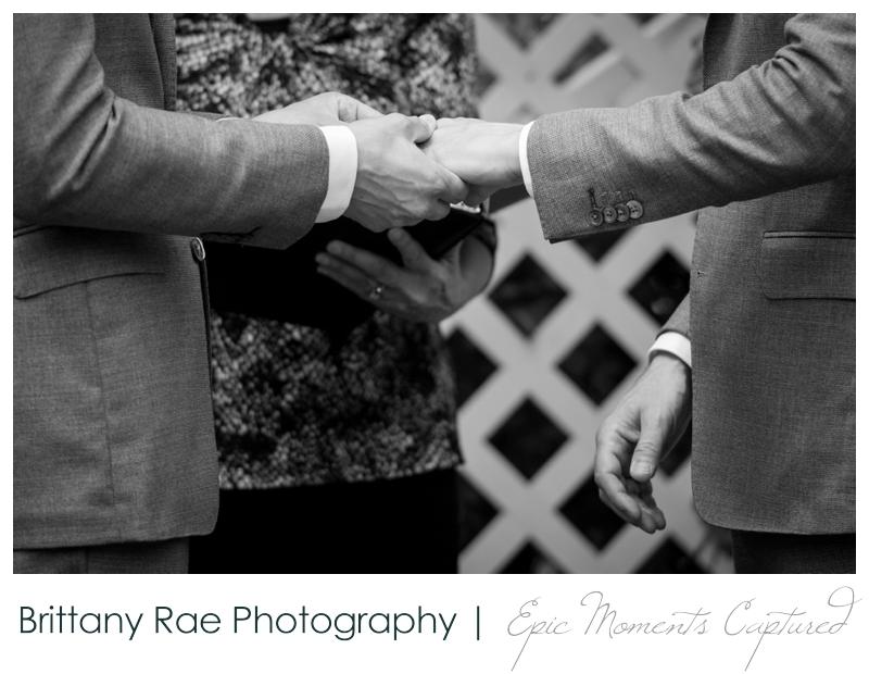 Harborview at Jones Landing Wedding, Peaks Island Maine - ring exchange