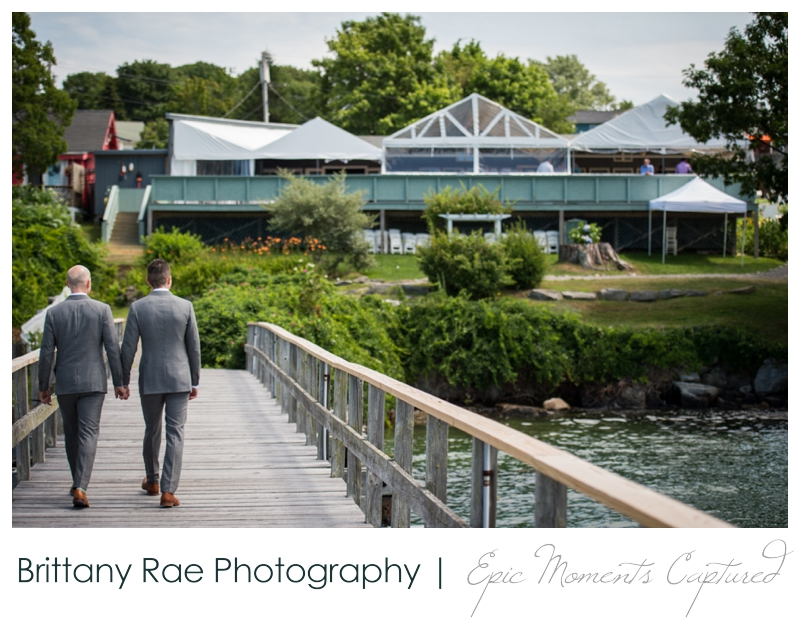 Harborview at Jones Landing Wedding, Peaks Island Maine - view from the water