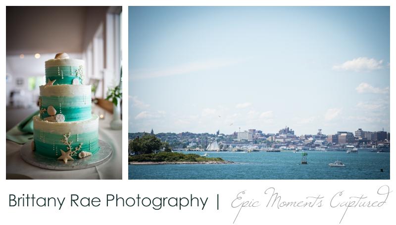 Harborview at Jones Landing Wedding, Peaks Island Maine - Ombre nautical cake
