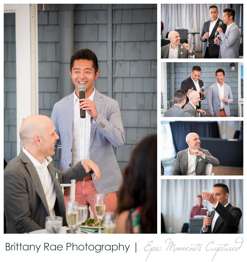 Harborview at Jones Landing Wedding, Peaks Island Maine - speeches