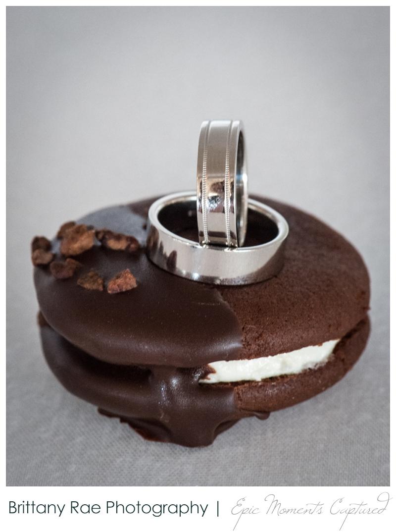 Harborview at Jones Landing Wedding, Peaks Island Maine - rings on whoopie pies