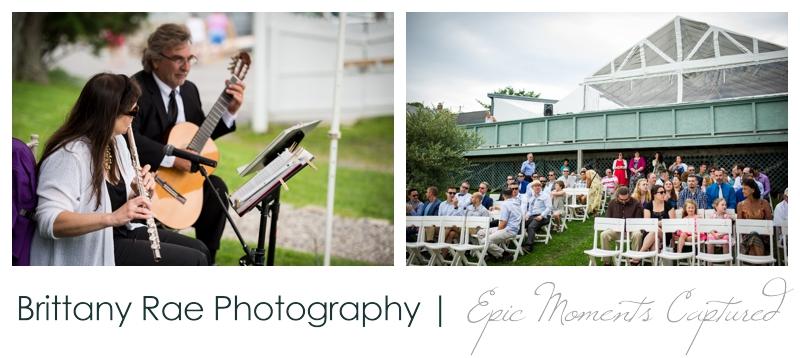 Harborview at Jones Landing Wedding, Peaks Island Maine - outdoor ceremony details