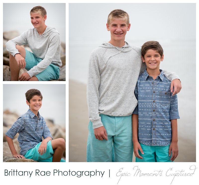 Ogunquit Family Photos - Teen boys on beach