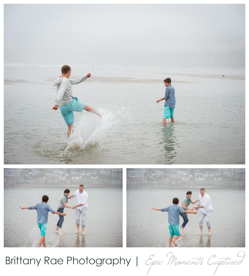 Ogunquit Family Photos - splashing in the water