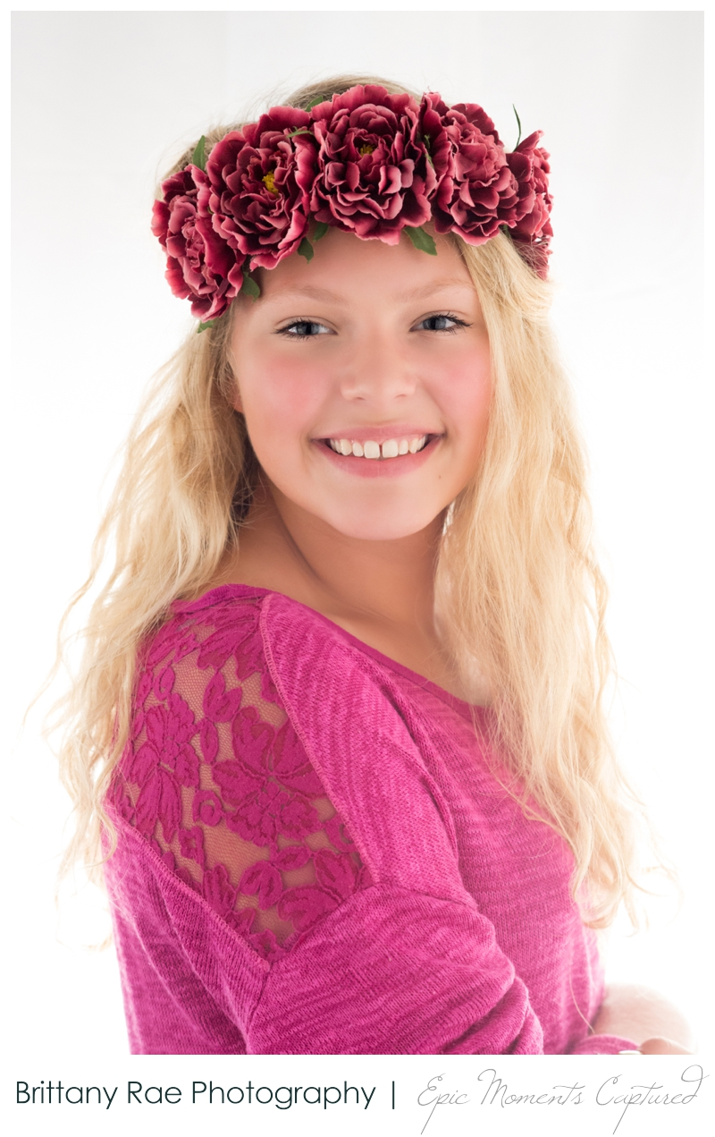 Mother and Daughter glamour portraits, Scarborough Maine - teen glamour portraits with flowers