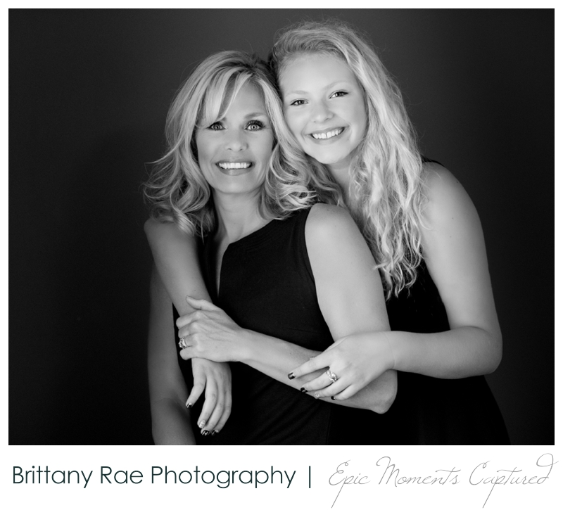 Mother and Daughter glamour portraits, Scarborough Maine - Mom and daughter black and white