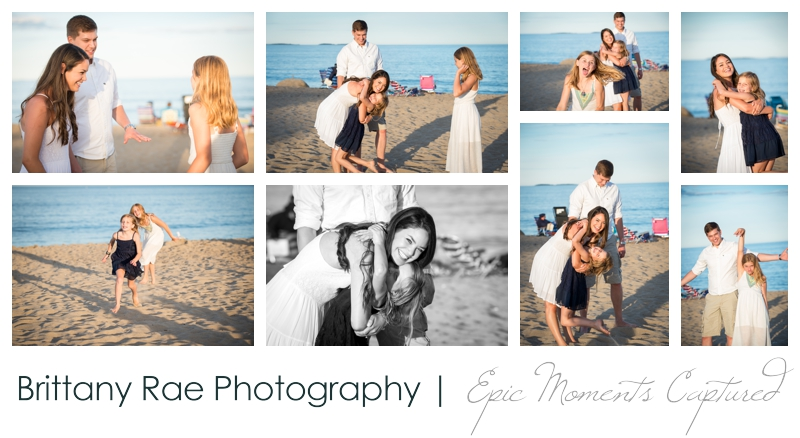 Old Orchard Beach Engagement Photos - Family on the beach
