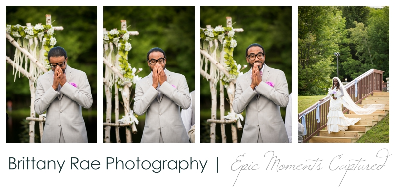 Indian Head Resort Wedding Lincoln New Hampshire - Groom's happy first look