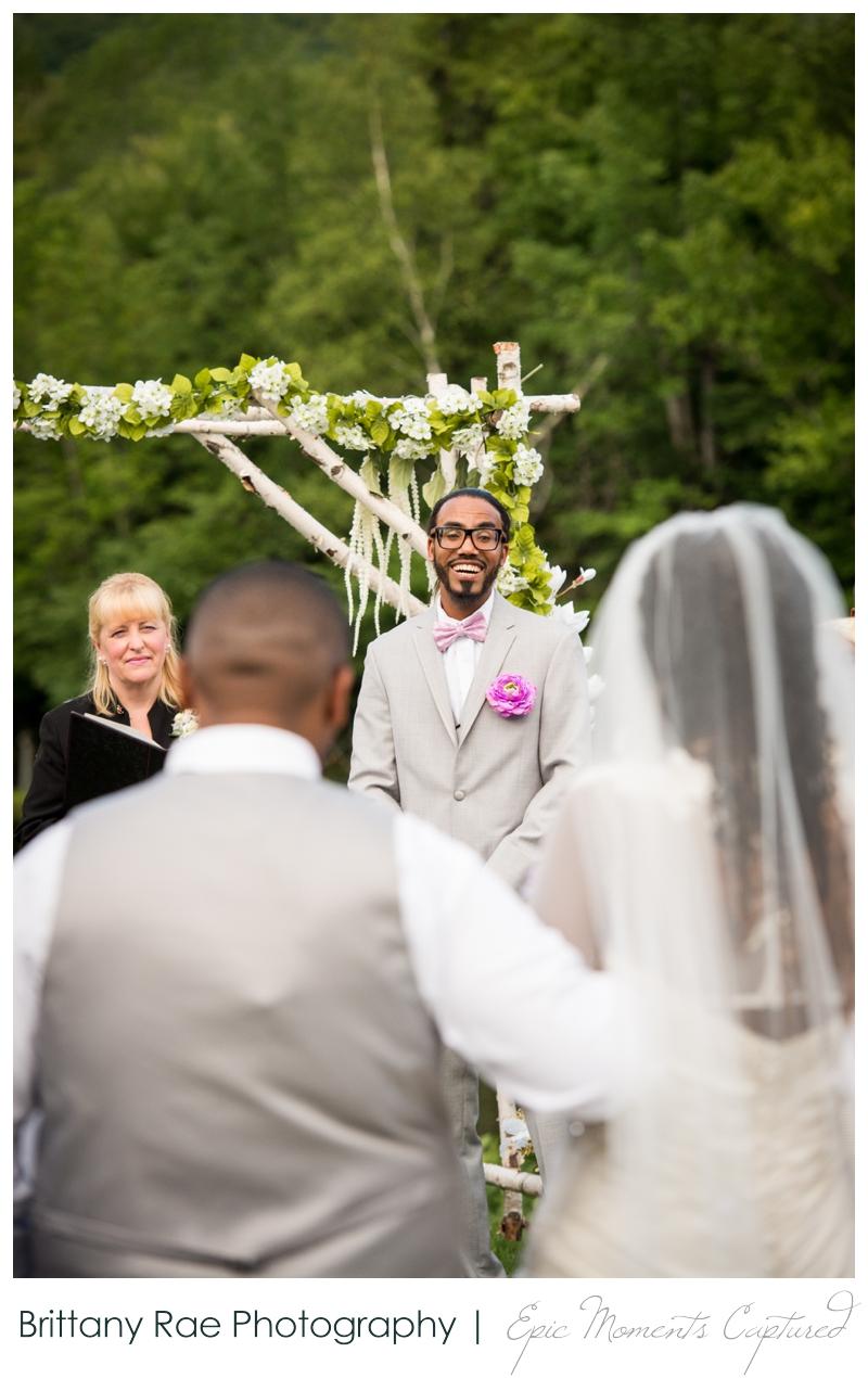Indian Head Resort Wedding Lincoln New Hampshire - Groom seeing bride