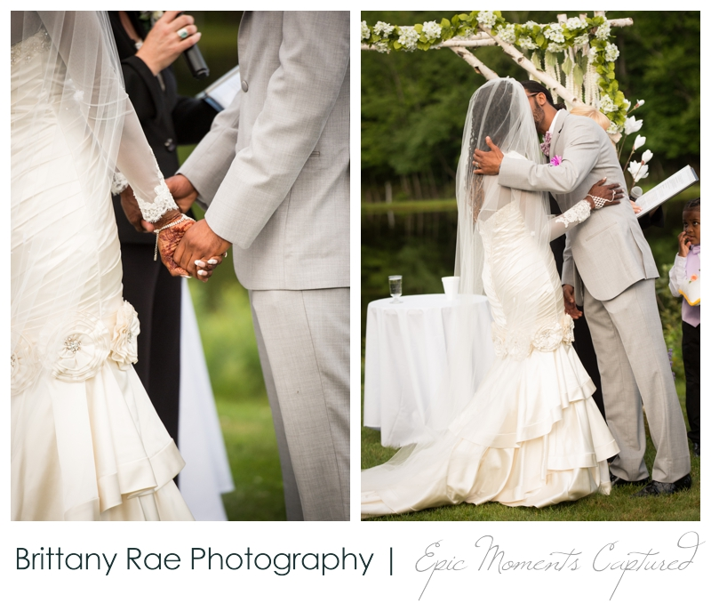 Indian Head Resort Wedding Lincoln New Hampshire - First Kiss White Mountains