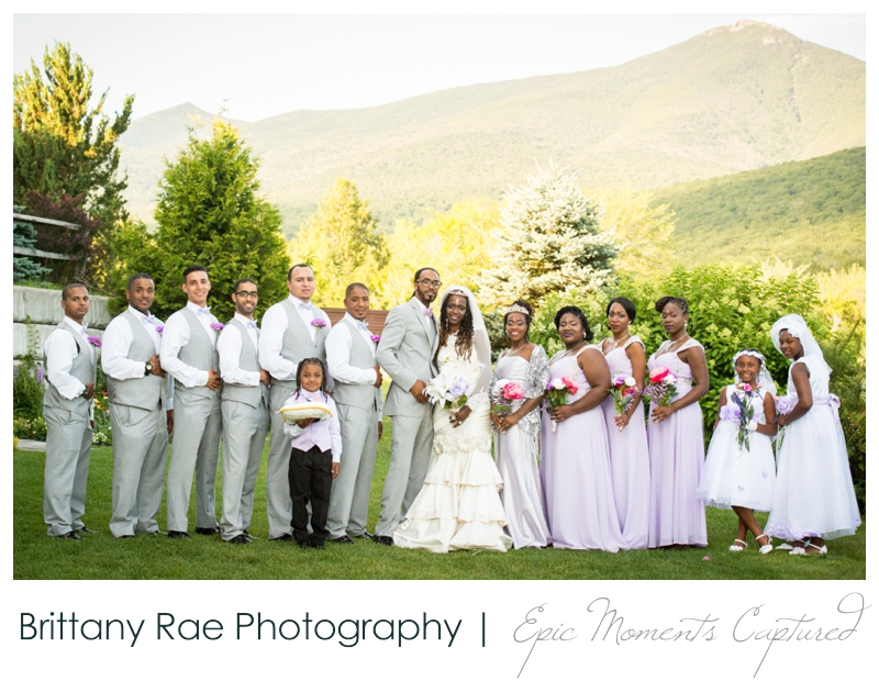 Indian Head Resort Wedding Lincoln New Hampshire - Wedding Party in Mountains