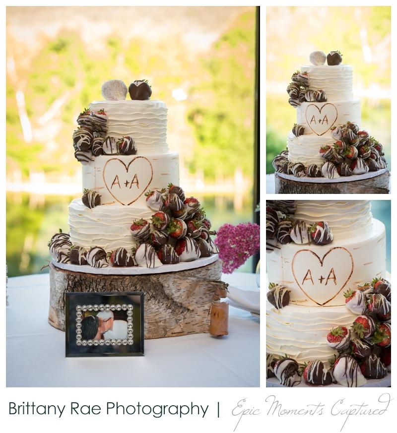 Indian Head Resort Wedding Lincoln New Hampshire - Chocolate Covered Strawberry Wedding Cake
