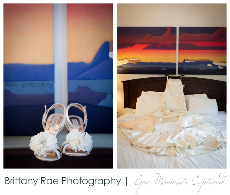 Indian Head Resort Wedding Lincoln New Hampshire - Wedding Dress and Shoes