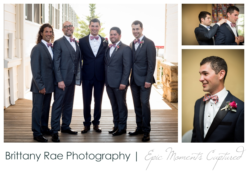 The Colony Hotel Wedding in Kennebunkport Maine - groomsmen at the colony