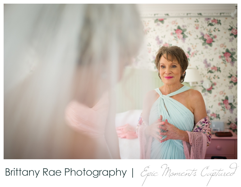 The Colony Hotel Wedding in Kennebunkport Maine - mom seeing bride