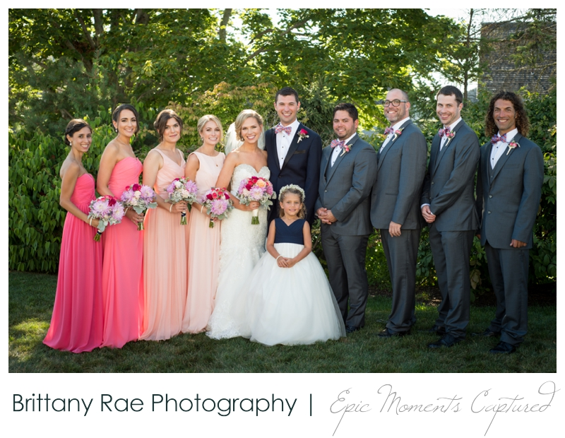 The Colony Hotel Wedding in Kennebunkport Maine - Ombre Bridesmaid dresses