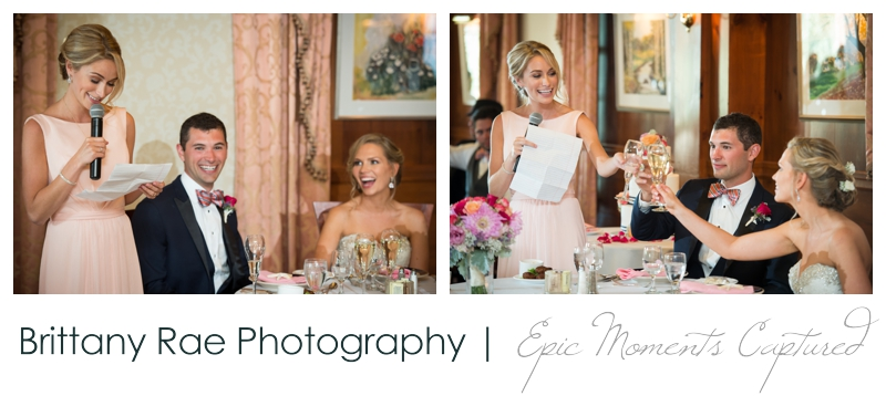 The Colony Hotel Wedding in Kennebunkport Maine - wedding speeches