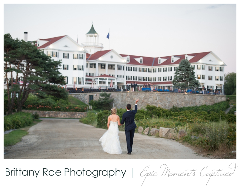 The Colony Hotel Wedding in Kennebunkport Maine - Wedding Couple with The Colony