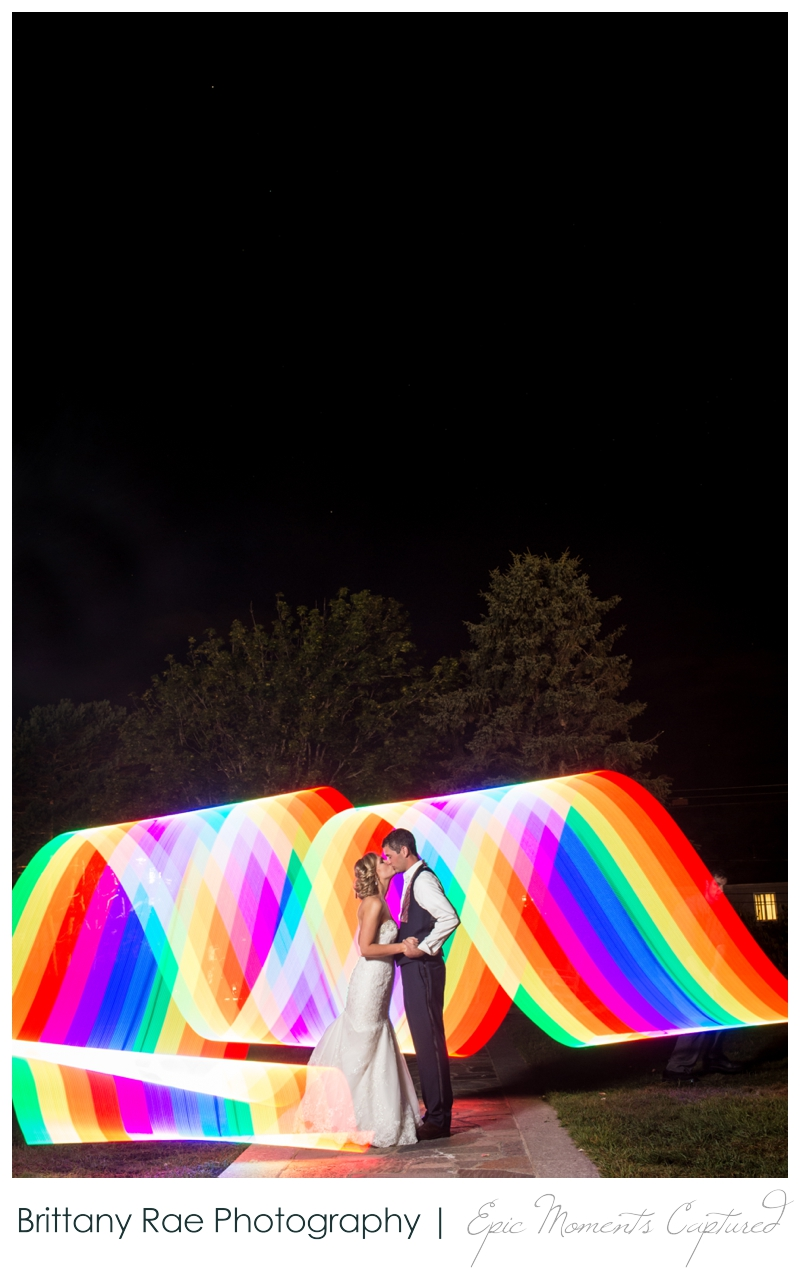 The Colony Hotel Wedding in Kennebunkport Maine - Light painting with PixelStick at Wedding