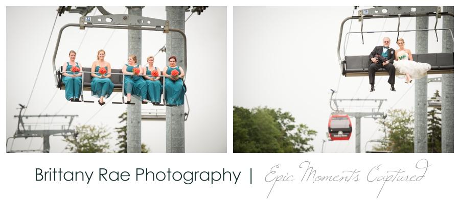 Peak Lodge Sunday River Wedding in Bethel Maine - Ski Lift Wedding Images