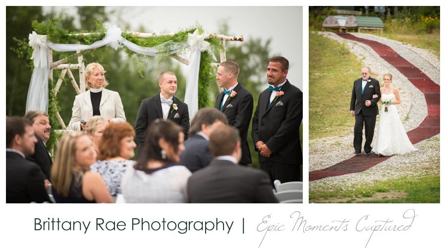 Peak Lodge Sunday River Wedding in Bethel Maine - Peak Lodge Outdoor Ceremony