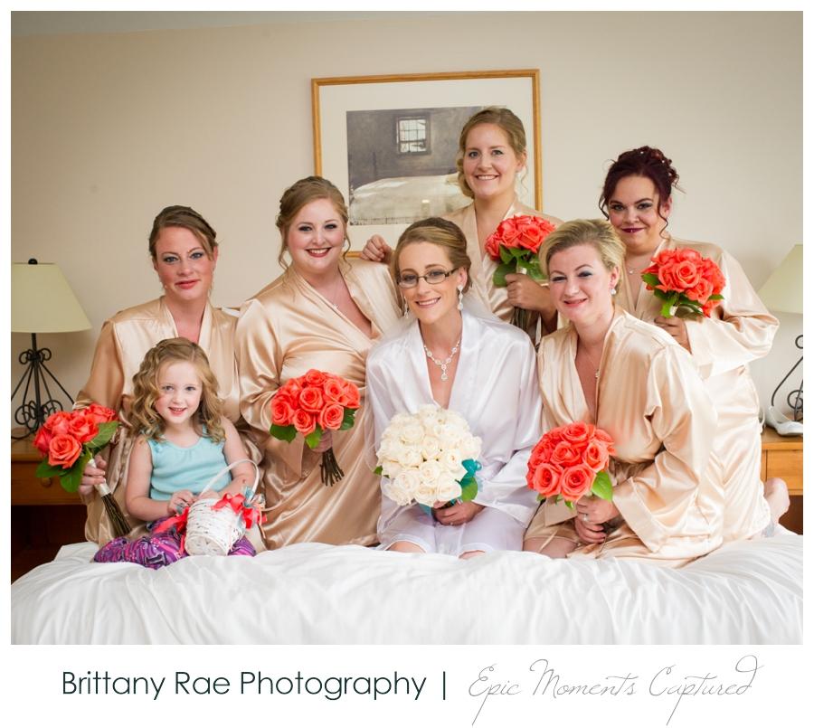 Peak Lodge Sunday River Wedding in Bethel Maine - Bridesmaids in matching robes