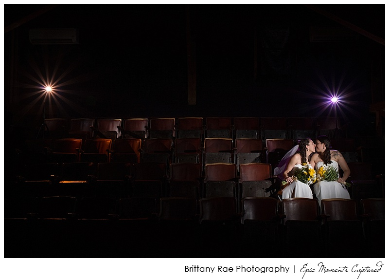Celebration Barn Theater Wedding South Paris Maine - Theater Wedding Portrait
