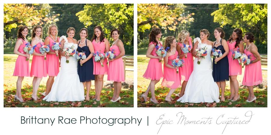 Wolfe's Neck Farm Wedding Freeport Maine - bridesmaid portraits