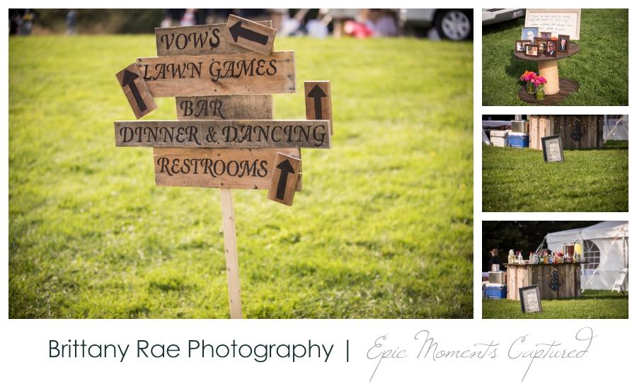 Wolfe's Neck Farm Wedding Freeport Maine - Pallet signs wedding
