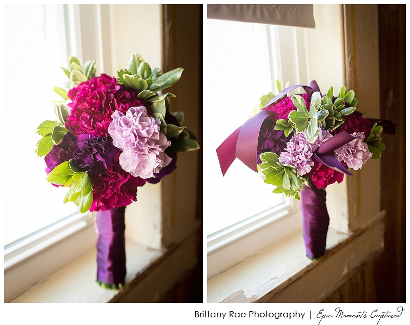 Holiday Inn by the Bay Wedding - Purple and Pink bouquets