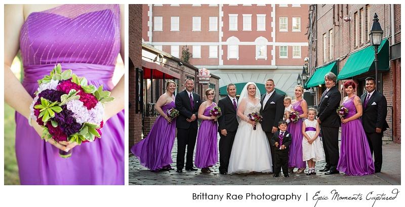 Holiday Inn by the Bay Wedding - Old Port bridal portraits