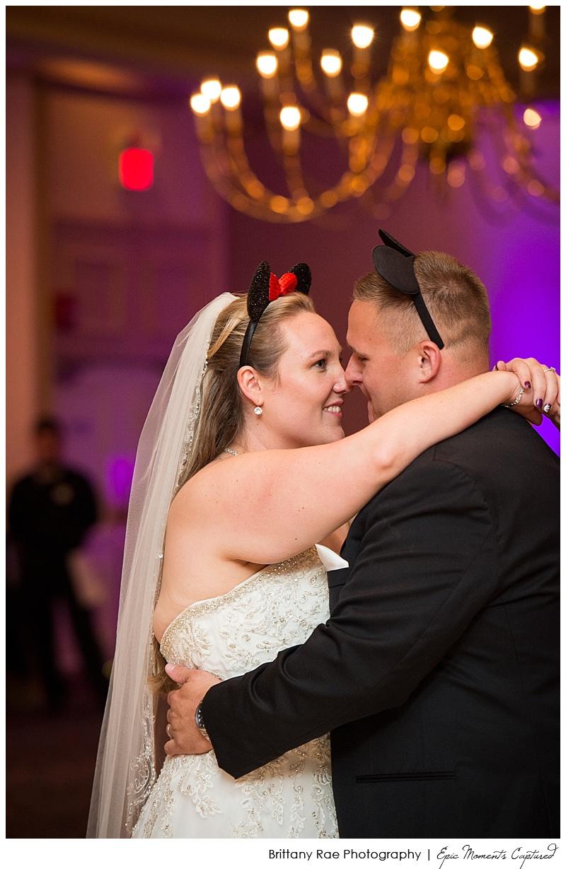 Holiday Inn by the Bay Wedding - Bride and Groom Mickey ears
