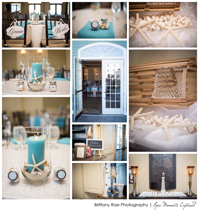 Union Bluff Hotel wedding - Teal Wedding Details