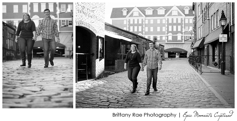 Portland's Old Port Engagement Session - Cobblestone Street Engagement