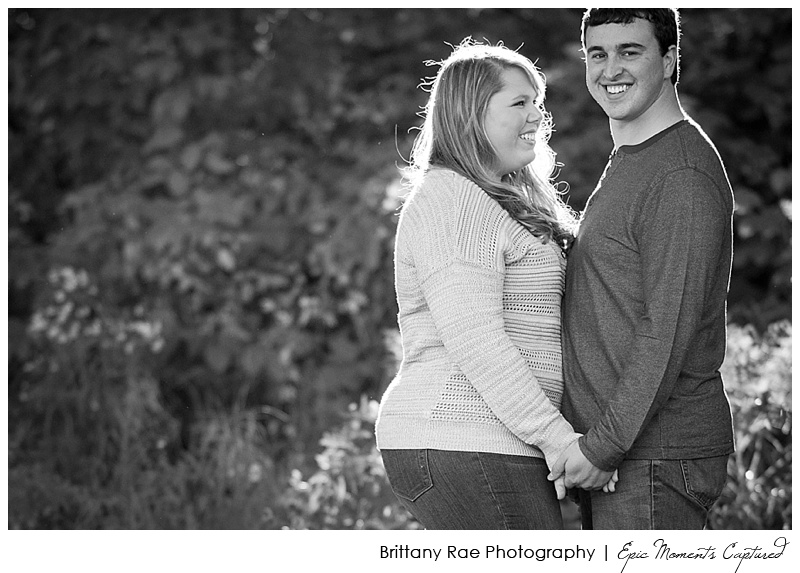 Portland's Old Port Engagement Session - Black and White Couple