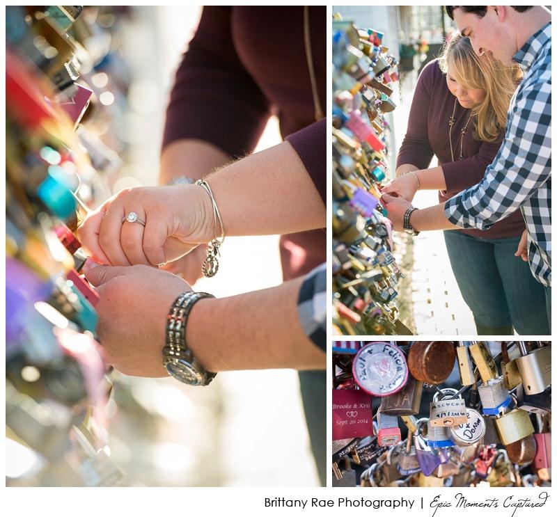 Portland Love Lock Bridge Engagement