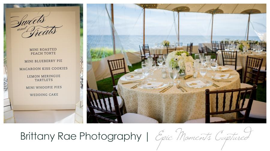 Kennebunkport Tented Wedding - Gold Ocean Wedding Details
