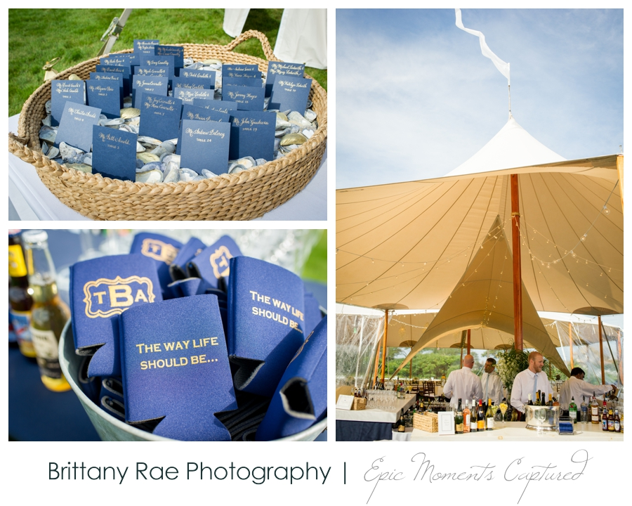 Kennebunkport Tented Wedding - Nautical Navy and Gold Wedding Details