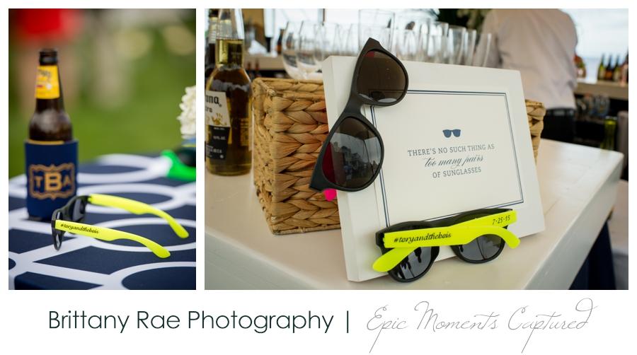 Kennebunkport Tented Wedding - Wedding Sunglass Favors