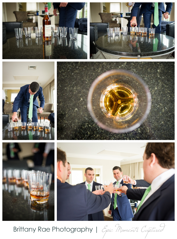 Kennebunkport Tented Wedding - Grooms Whiskey Toast