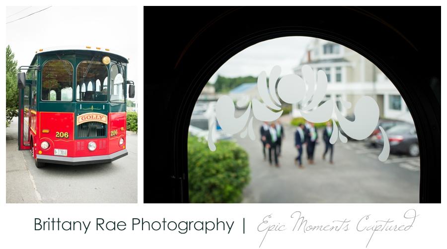 Kennebunkport Tented Wedding - Wedding day trolley